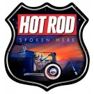 """Hot Rod Spoken Here"" Highway Sign from the Hot Rod Magazine Collection"