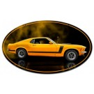 Mustang 1970 Yellow Boss 302 Fastback Oval Sign