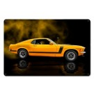 Mustang 1970 Yellow Boss 302 Fastback Sign