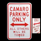 Chevy Camaro Parking Sign