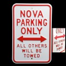 Chevy Nova Parking Sign