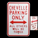 Chevy Chevelle Parking Sign