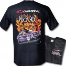 Chevy Nova in Flames T Shirt