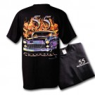 55 Chevy in Flames T Shirt