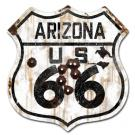 ROUTE 66 - ARIZONA HIGHWAY SIGN / RUST