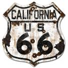 ROUTE 66 CALIFORNIA SIGN - RUST