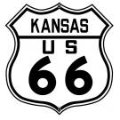 ROUTE 66 KANSAS HIGHWAY SIGN