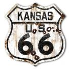 ROUTE 66 KANSAS HIGHWAY SIGN - RUST
