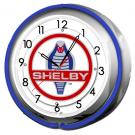 Shelby Cobra Double Neon Clock