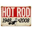 HOT ROD MAGAZINE 60th ANNIVERSARY VINTAGE METAL SIGN
