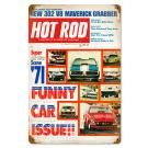 "Hot Rod Magazine Cover ""Funny Cars"" (Apr. 1971) Sign"