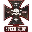 Speed Shop Iron Cross Sign