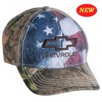 Chevy USA Camo Hat with Bowtie