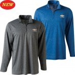 Chevrolet Cool & Dry Quarter Zip Jacket with Gold Bowtie