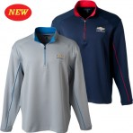 Chevrolet Textured Zipper Pullover with Gold Bowtie