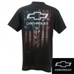 Chevrolet Skull on Flag Tee