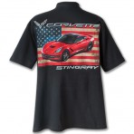 C7 Corvette Stingray T-Shirt with American Flag