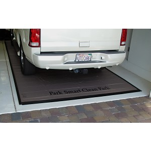 Garage Mat for Oil, Mud, Sludge 7.5' x 18' (Gray 20 Mil)