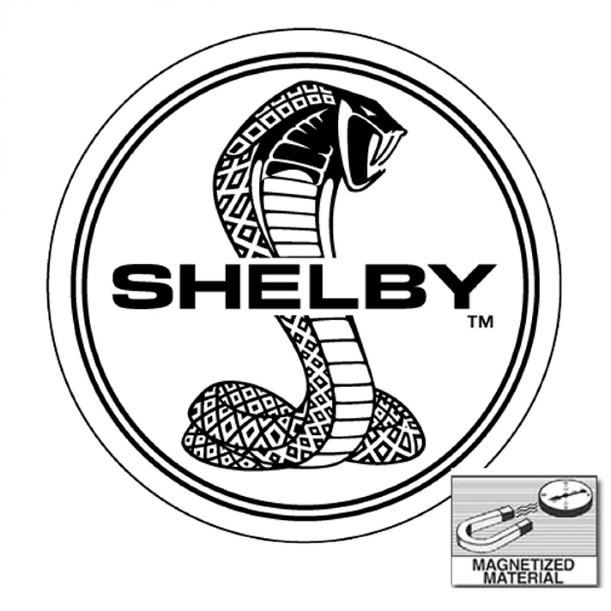 Mustang Shelby Cobra Logo Metal Silver Snake Drawings For Kids
